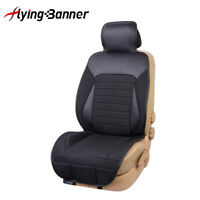 New single front Car Seat Cover Cushion Linen PU Leather Breathable Black