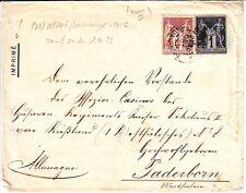 1 c SAGE obl lettre à destination de l' ALLEMAGNE COVER , BEL AFFEANCHISSEMENT