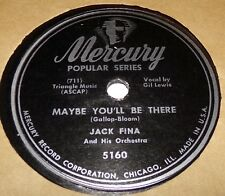 Mercury 5160 Jack Fina Maybe You'll Be There / Dardanella Boogie 78 RPM E- V+