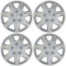 "4pc Hub Cap ABS Silver 17"" Inch for OEM Rim Wheel Skin Replica Cover Covers Caps"