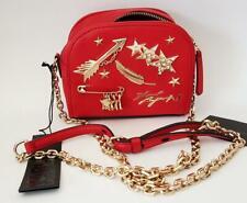 KARL LAGERFELD Gold Pins Red Crossbody Camera Chain Shoulder Bag Vegan BNWT