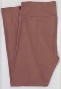 TC LuLaRoe Tall & Curvy Leggings Solid Pinkish Brown NWT 15