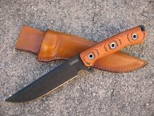 Busse Combat Knife Works URBAN GRUDGE Custom Molded Leather Knife Sheath TAN