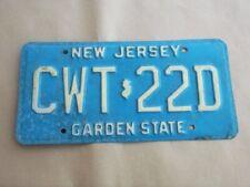 Targa auto vintage americana Stato del New Jersey anni '70/80 originale