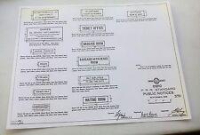 1909 PRR Pennsylvania Railroad Public Notice 14 Different Signs Standard Plans
