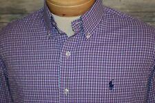 RALPH LAUREN PERFORMANCE Men's L/S Nylon Spandex Button Down Shirt Purple MD