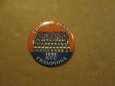 NFL Chicago Bears Vintage 1985 NFC Champions Team Photo Football Pinback Button