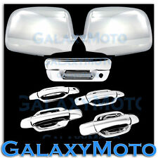 05-12 Chevy Colorado+Canyon Chrome Mirror+4 Door+PSG KH+Tailgate Handle Cover