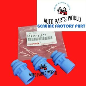 GENUINE OEM TOYOTA SUPRA GS300 IS300 SC300 3.0L IGNITION COIL END CAP SET OF 3