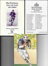 1994 GOAL LINE ART CARD SET SERIES 6 Tony Dorsett, Bart Starr, Franco Harris