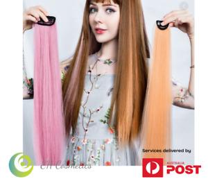 Clubbing Punk Fluorescent Color Dyeing Hair Piece Wig Clip Extensions 2 pieces