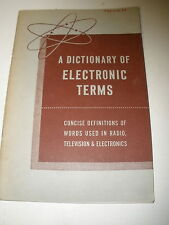 Allied Radio - A Dictionary of Electronic Terms - 1957