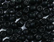 30 gr Rocailles Glasperlen 4mm schwarz matt rb1019