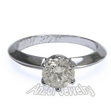 Knife Edge Solitaire .90 ctw Diamond Engagement Ring in 18k Solid White Gold