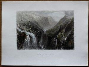 1842 Bartlett print GLENMALURE, COUNTY WICKLOW, IRELAND (#52)