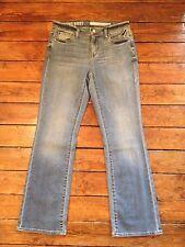 DKNY Rrp £90 Womens SOHO Bootcut Jeans Blue Vintage Wash Sz 8 L28 Petite
