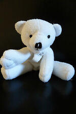 E/ DOUDOU PELUCHE YVES ROCHER OURS BLANC 14 CMS ASSIS ECHARPE FLOCON - TBE !