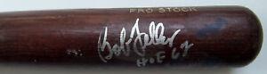 BOB FELLER Signed Game Used Louisville Slugger Pro Stock Baseball Bat HOF 62 GAI