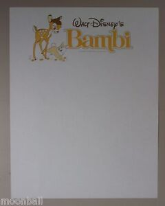 RARE! Walt Disney's BAMBI Office Stationary 1966 release