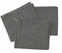 Vintage WestPoint Stevens Black Gingham Check Standard Size Pillowcases Set of 3