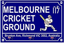 CRICKET - ROAD SIGNS (MELBOURNE) - SOUVENIR NOVELTY FRIDGE MAGNET - GIFT NEW