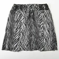 Chicos Zebra Print Skirt Stretch Womens 3
