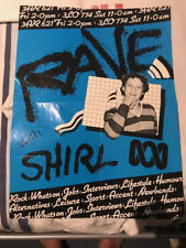 SKYHOOKS - SHIRL - RAVE WITH SHIRL POSTER VERY RARE AND EXTREMELY HARD TO FIND