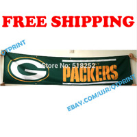 Green Bay Packers Logo Banner Flag 2x8 ft 2020 NFL Fan Club Wall Home Decor NEW