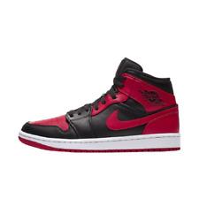 """NIB NIKE Air Jordan 1 Mid """"Bred"""" - Black/Gym Red/White(554724-074)"""