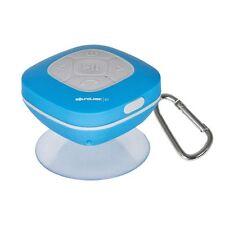 SoundLogic Xt Blue Splash Proof Bluetooth Shower Speaker Fm Radio Carabiner New