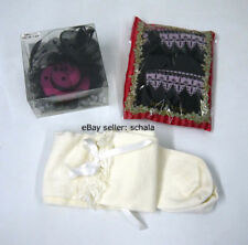 Lolita Bodyline socks lot of 2 off white purple/black + mini hat fascinator