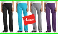 Hanes Women's Sweatpants Fleece Bottom Leg ComfortSoft EcoSmart Small to 2XL