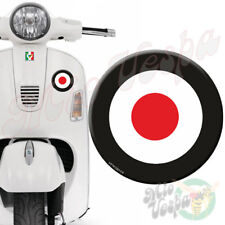 90mm Black Target Mod 3D Decal domed sticker for Vespa GTS ET PX LX 250 300 125