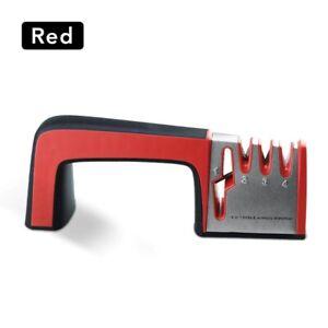 Knife Sharpener 4 in 1 Diamond Coated&Fine Rod Knife Shears and Scissors Sharpen