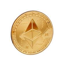 scarlet gifts Münze »Ethereum« Edelmetallauflage (24-Karat Gold, Silber, Kupfer)