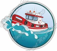 "Rescue Boat Firefighter 911 Emergency Ship Car Bumper Vinyl Sticker Decal 4.6"""