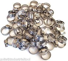 """50 Goliath Industrial Stainless Steel Hose Clamps 1/2"""" - 3/4"""" Sshc34 13Mm-19Mm"""