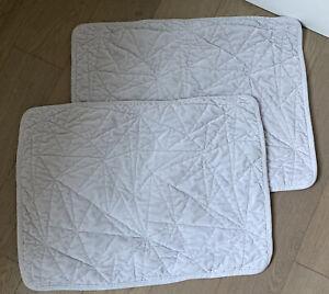 Catherine Malandrino Velvet Gray Pillowcases Standard Size