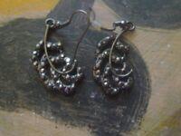 Buy NOW-Vintage Marcasite Earrings pair 1980s -NZ Estate