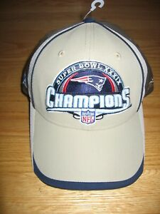 NEW ENGLAND PATRIOTS SUPER BOWL XXXIX NEW WITH TAGS HAT BY NFL ON FIELD REEBOK