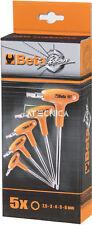 Serie chiavi esagonali maschio Beta Tools 96T/S5P piegate impugnatura brunite