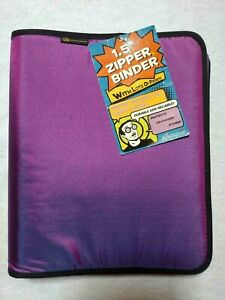 """It's Academic 1 1/2"""" Zipper Binder With Lots Of Pockets"""