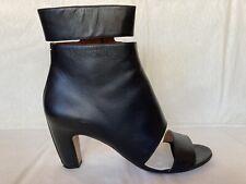 Maison Martin Margiela black cut-out open toe ankle boots bootie sandals 41 10