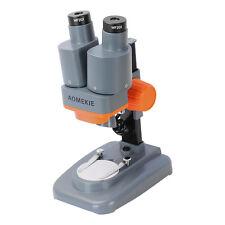AOMEKIE Potable 40X Stereo Binocular Mini Microscope LED Light For PCB Repairing