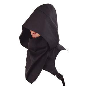 Unisex Medieval Cowl Hood Scarf Halloween Hooded Wicca Pagan Cosplay Outdoor