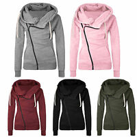Womens Autumn Casual Jackets Coats Lapel Parka Ladies Long Zipper Bomber Outwear