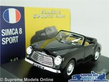 SIMCA 8 SPORT MODEL CAR 1:43 SCALE BLACK ATLAS NOREV CLASSIC SPORTS K8