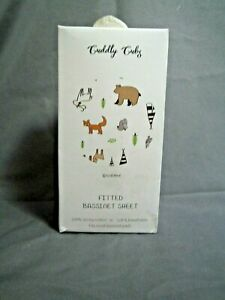 Cuddly Cubz Woodland Fitted Bassinet Sheet
