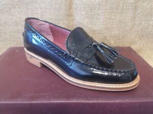 Ladies Black Leather Loafer Slip On *Brand New*  Size 3