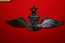 INDONESIAN INDONESIA POLICE METAL AIRBORNE PARACHUTE WING SENIOR BLACK